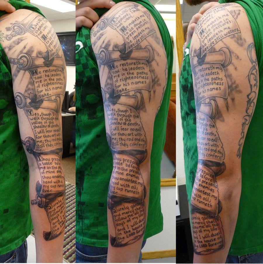 More Of The Scripture Sleeve Best Sleeve Tattoos Sleeves Ideas Tattoo Sleeve Men