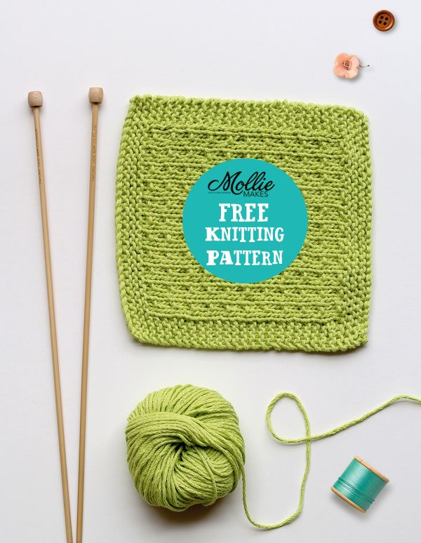 Mollie Makes Free Knitting Pattern Knitted Washcloth Pinterest