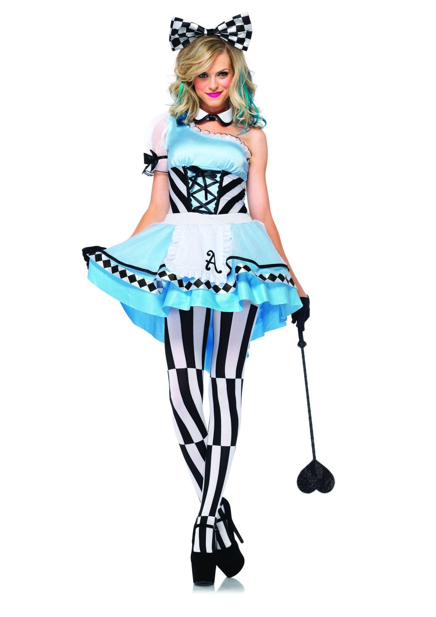 Psychedelic Stockings Adult Womens Alice in Wonderland Costume Thigh Highs