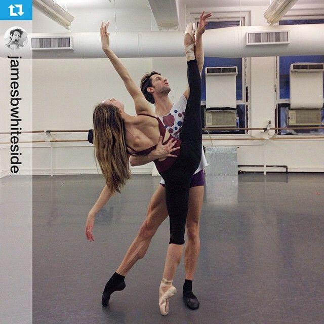 #Repost from @jamesbwhiteside Rehearsing #ThisWasWrittenOnWater w/ @isabellaboylston @pontuskarljohan for our Italian tour. #Ballet #PasDeDeux #Pointe #BolleAndFriends Photo: @sarahribagorda