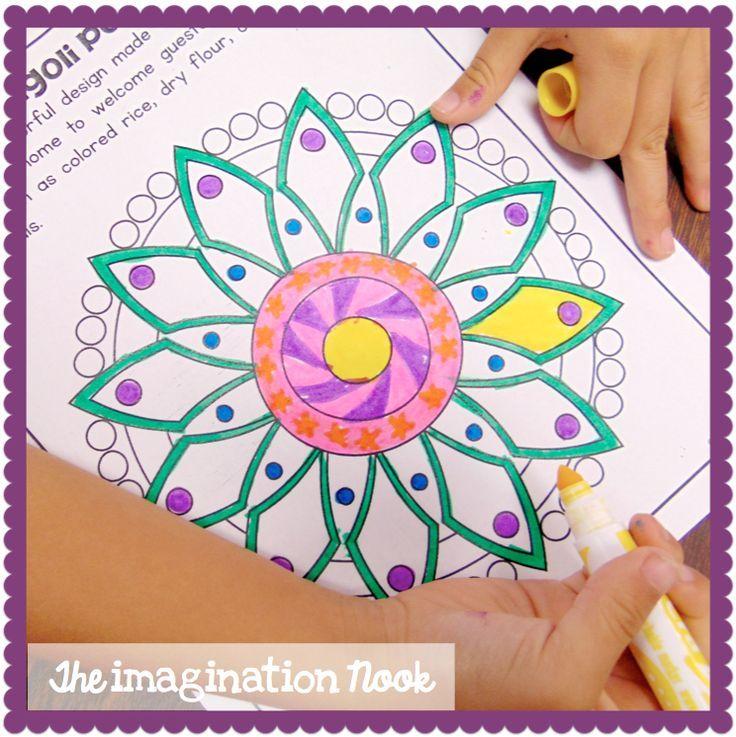 Diwali Craft Ideas For Kids Part - 32: Diwali Craft - Freebie - Rangoli Art For Kids. Happy Diwali