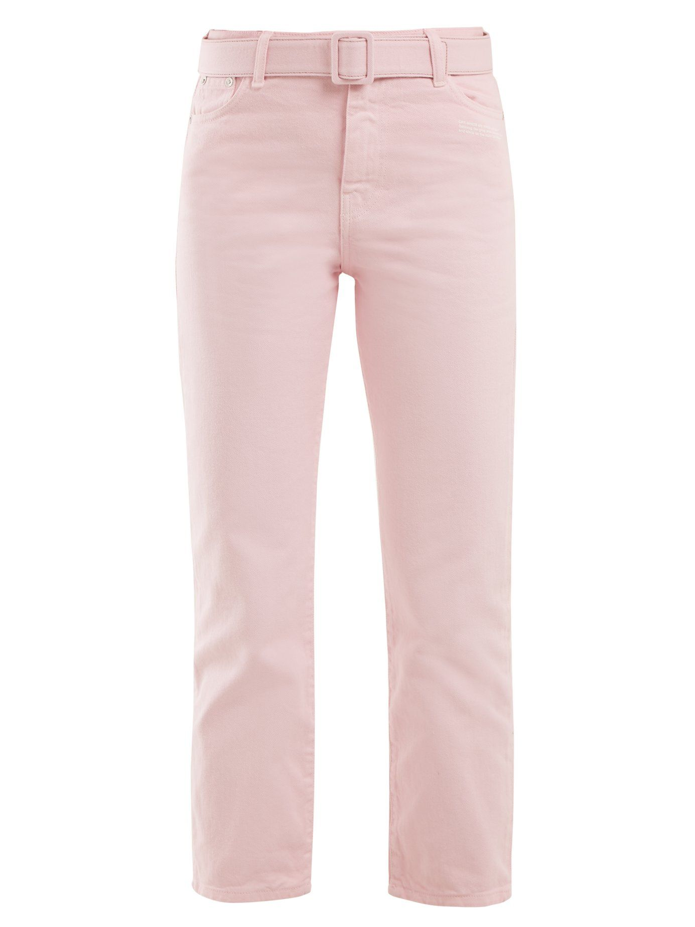 581bf519010 OFF-WHITE BELTED STRAIGHT-LEG CROPPED JEANS. #off-white #cloth ...