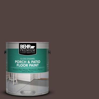 Behr Premium 1 Gal Pfc 25 Dark Walnut Gloss Enamel Interior Exterior Porch And Patio Floor Paint 673001 Patio Flooring Painted Floors Porch Paint