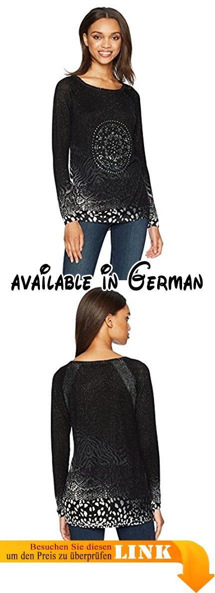 Desigual Damen Pullover Jers_pullover, Schwarz (Negro 2000), Small  (Herstellergröße: Medium