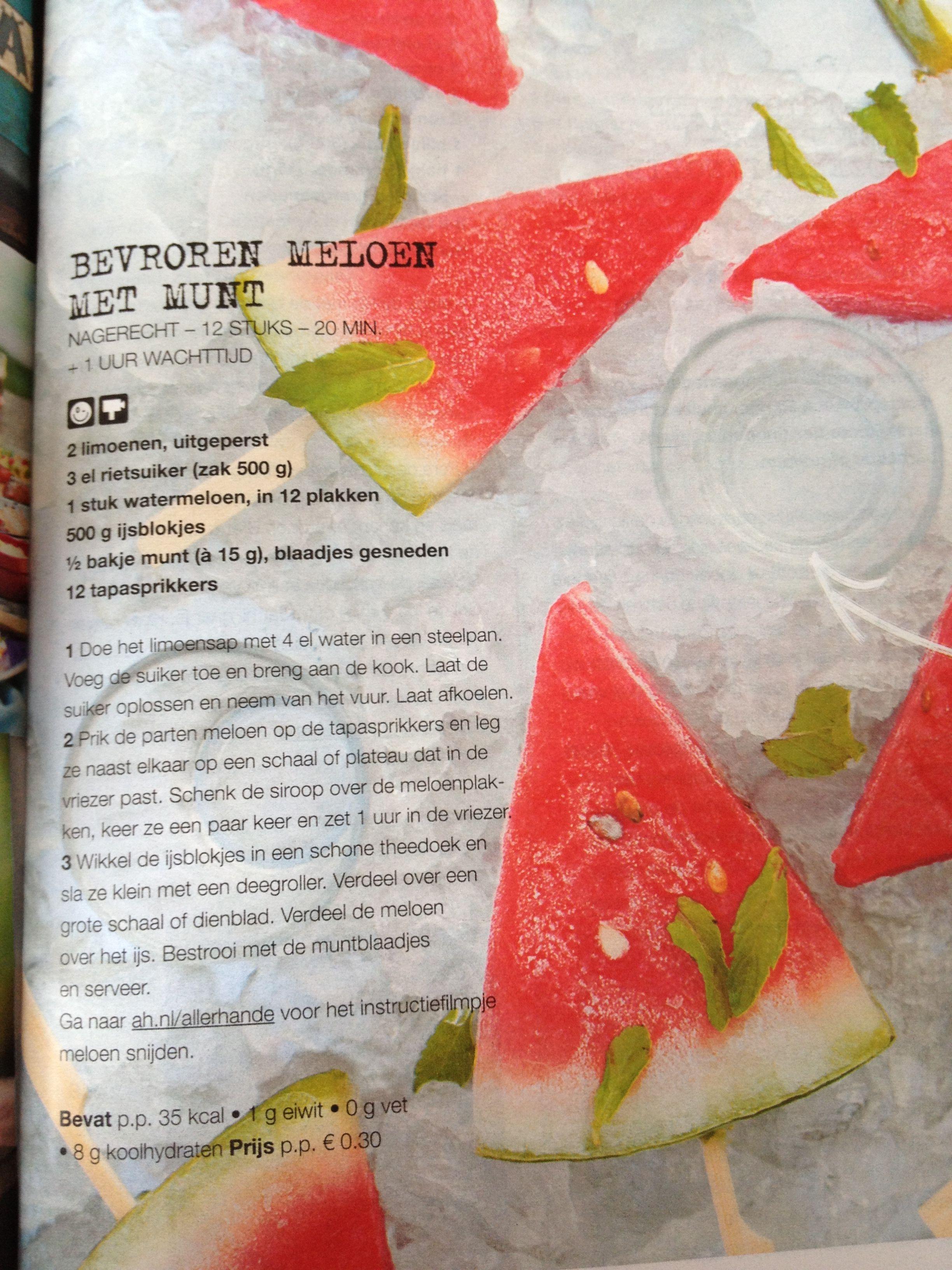 Watermeloen ijsjes!