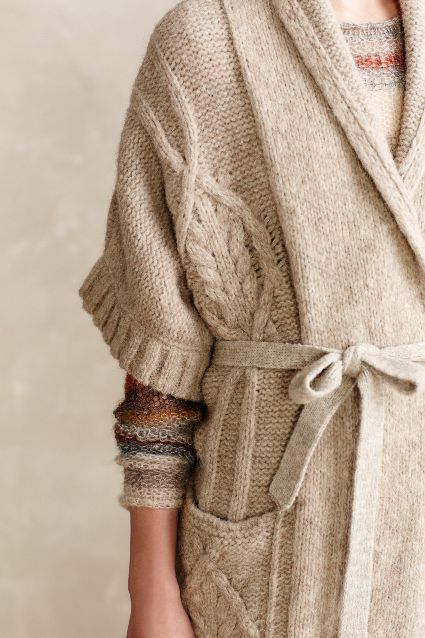 Divvied Cable Cardigan - anthropologie.eu