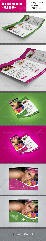 Trifold Brochure For Spa Salon | Pinterest