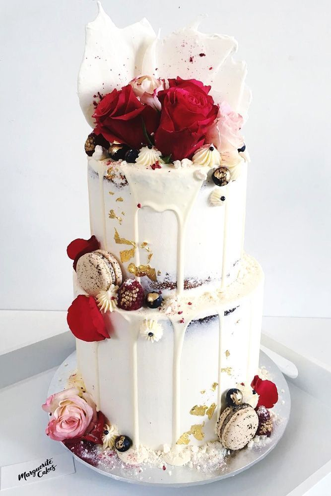 42 Yummy And Trendy Drip Wedding Cakes | Wedding Forward