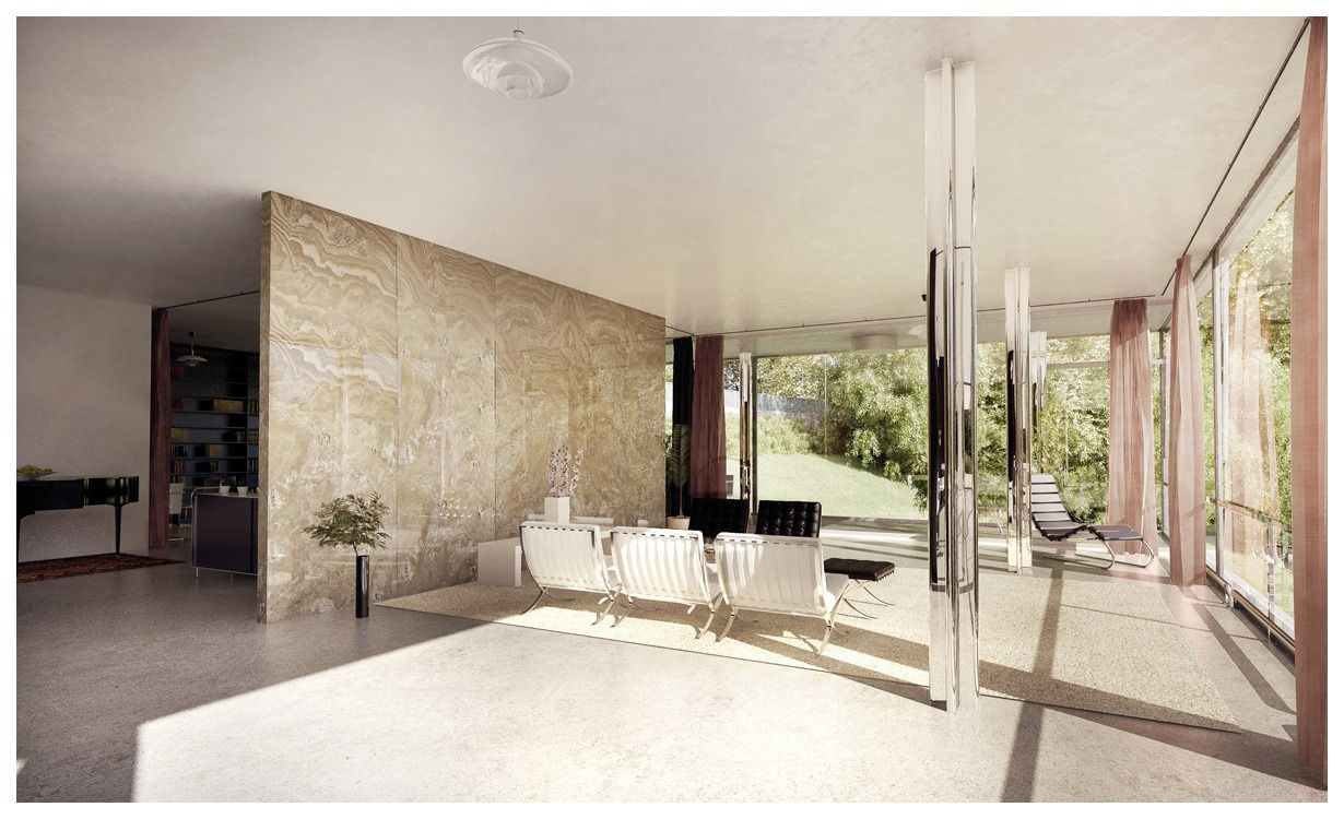 Ludwig mies van der rohe interior - Interior Of The Tugendhat House Mies Van Der Rohe 1930 Brno Czech Republic Ludwig Mies Van Der Rohe Pinterest 3d Architectural Visualization