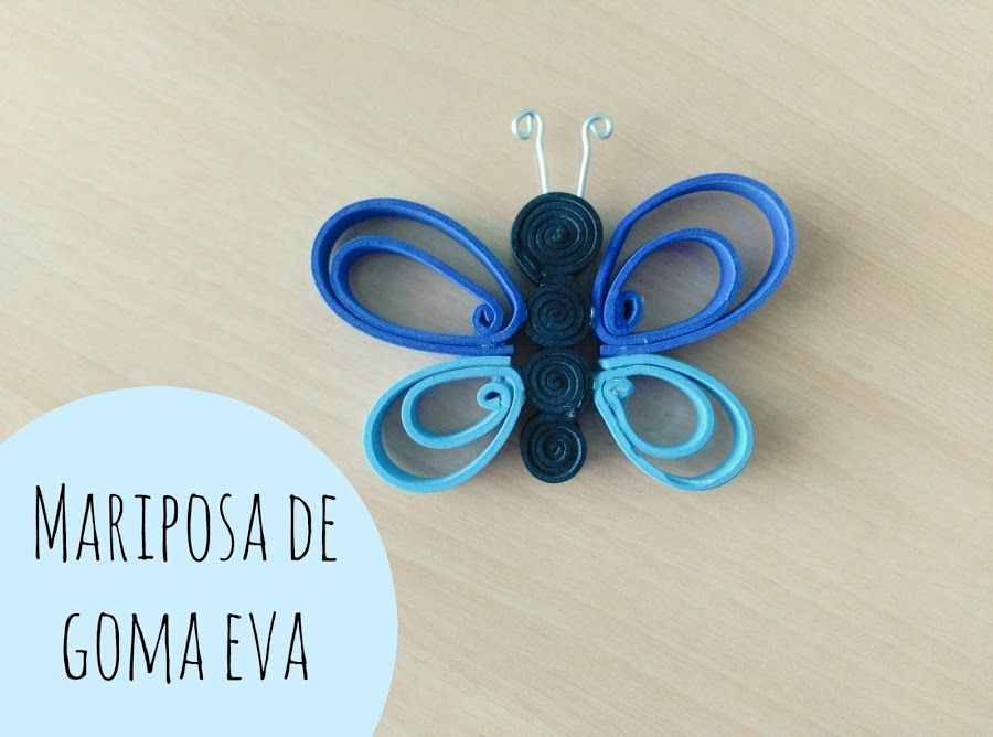 Mariposa de goma eva creando con los ni os cork - Como hacer mariposas de goma eva ...