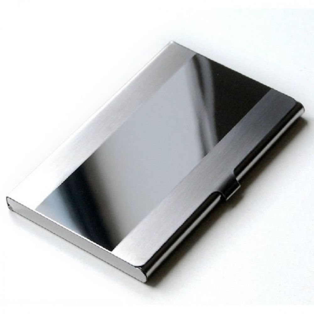 Business Card Holder Metal Box Stainless Steel Storage ID Credit Case Name Card