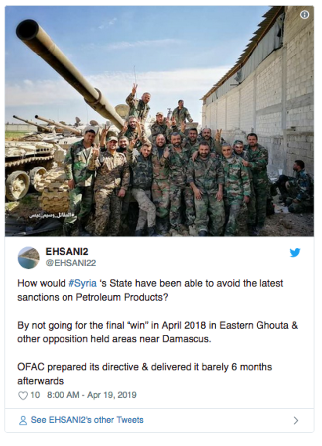 With Assad victorious, US oil sanctions now strangle entire
