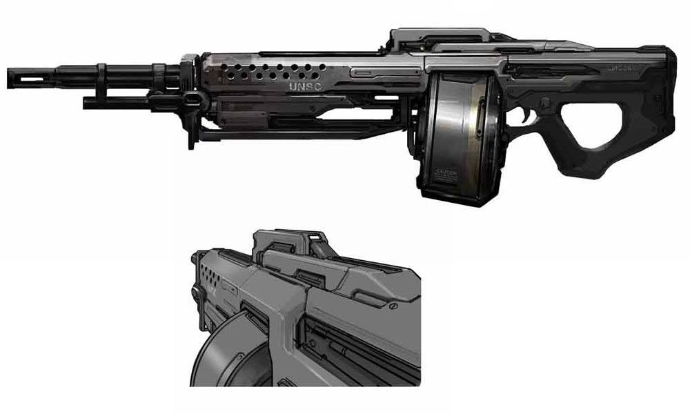 Halo 4 Art & Pictures, SAW | Video Game Weaponry ...