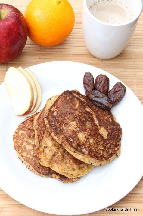 Datteln Pfannkuchen - eifrei und gesund | Kochen mit Thas -