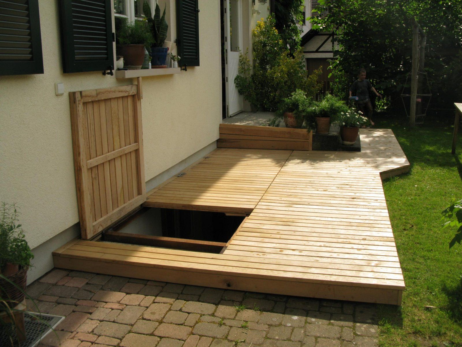 Terrasse Holz Terrasse Bodenklappe For The Home In 2019 Keller Eingang