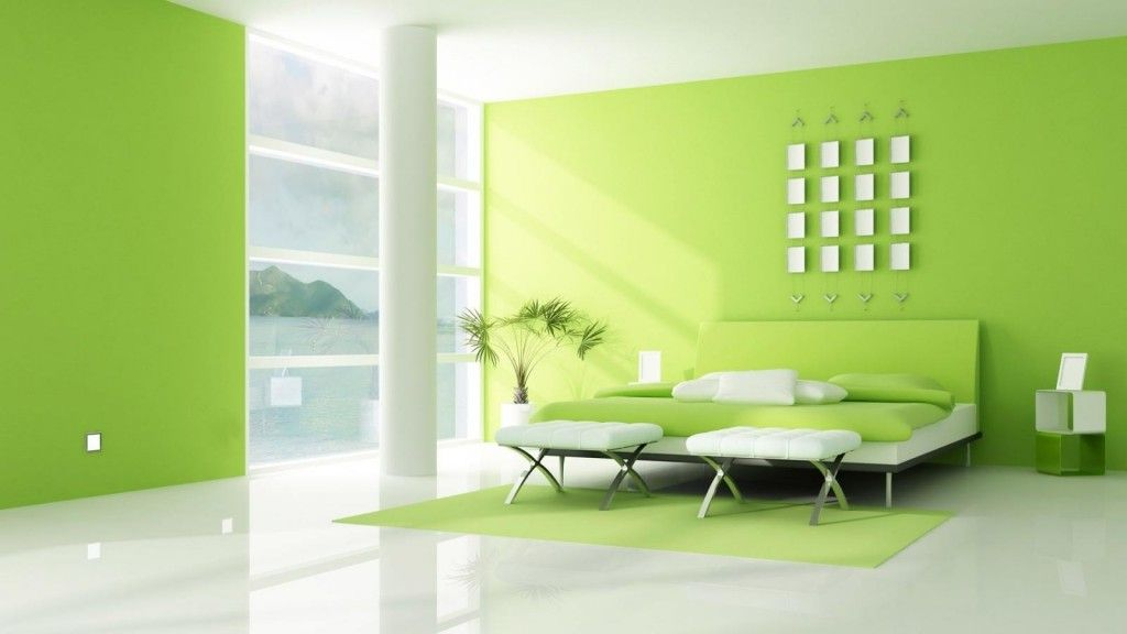 . Wall Color Lime Green Bedroom Ideas With White Bedding On White