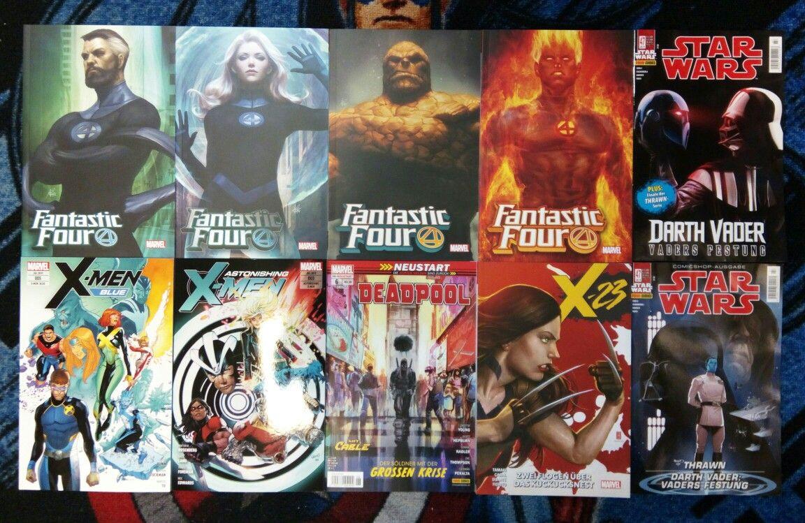 Die Neuen Paninicomics Sind Da Fantastic Four 1 X 23 1 Deadpool 6 Astonishing X Men 3 X Men Blue 5 Fantastic Four Deadpool X Men