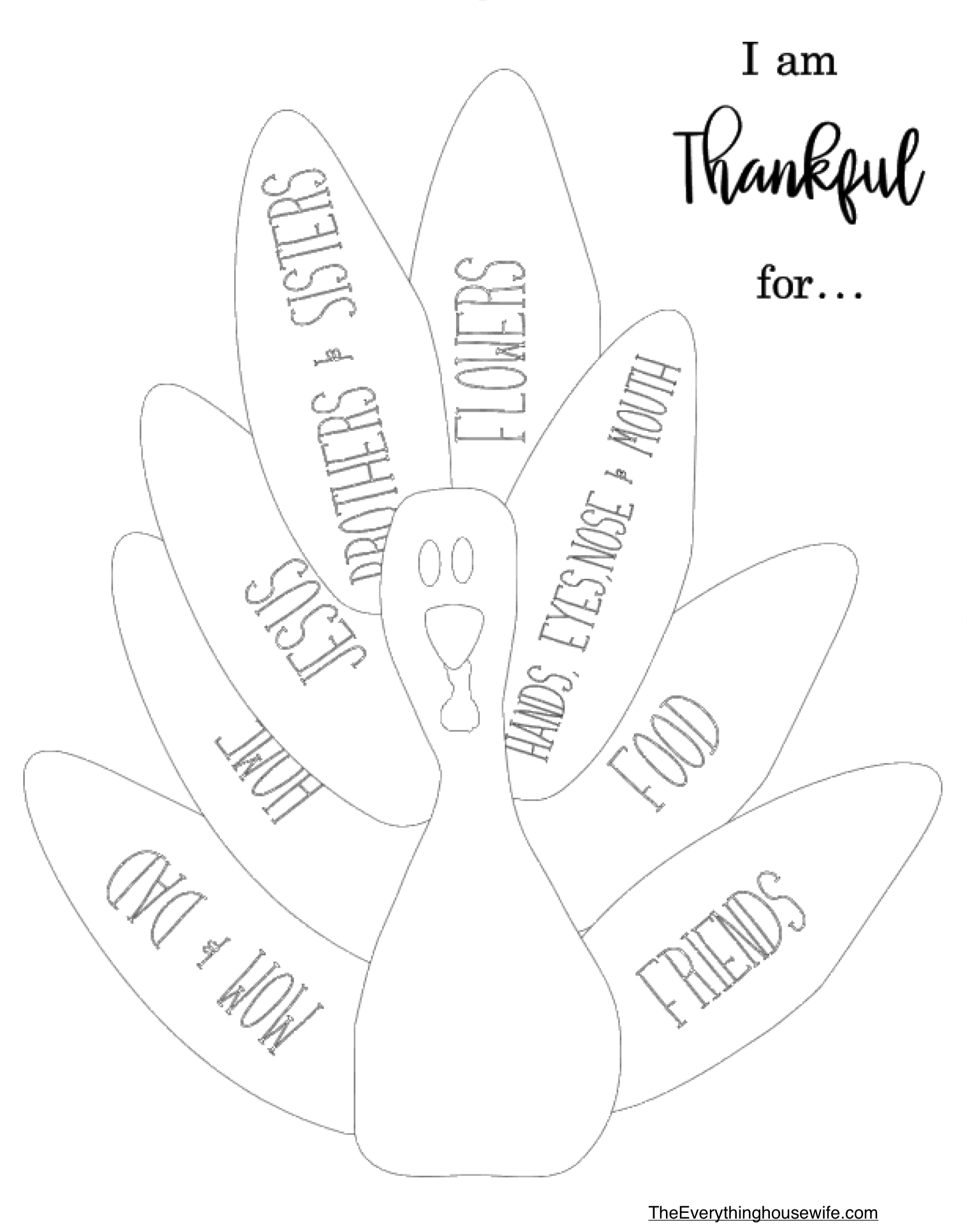 Free Thankful Turkey Thanksgiving Sunday Lesson And