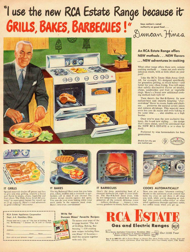Details About 1953 Vintage Appliance Ad Rca Estate Gas
