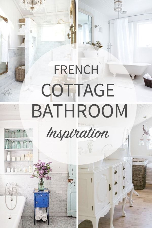 Creative Juice Pining For A Bungalow: French Cottage Bathroom Inspiration (With Images)