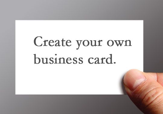 How To Make Your Own Business Cards Learn More At Goo Gl Mq7tz3