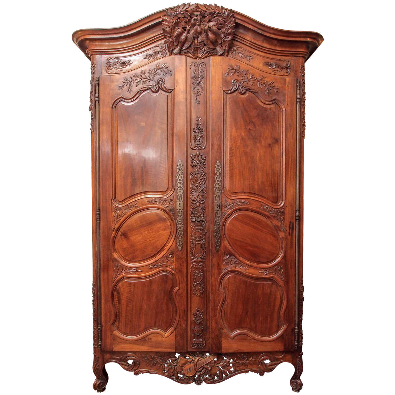 vintage antique furniture wardrobe walnut armoire. Vintage Furniture · Louis XV Walnut Armoire Du Marriage | From A Unique Collection Of Antique And Modern Wardrobes Wardrobe O