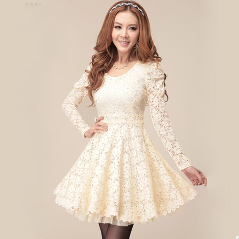 Long Sleeve Confirmation Dresses