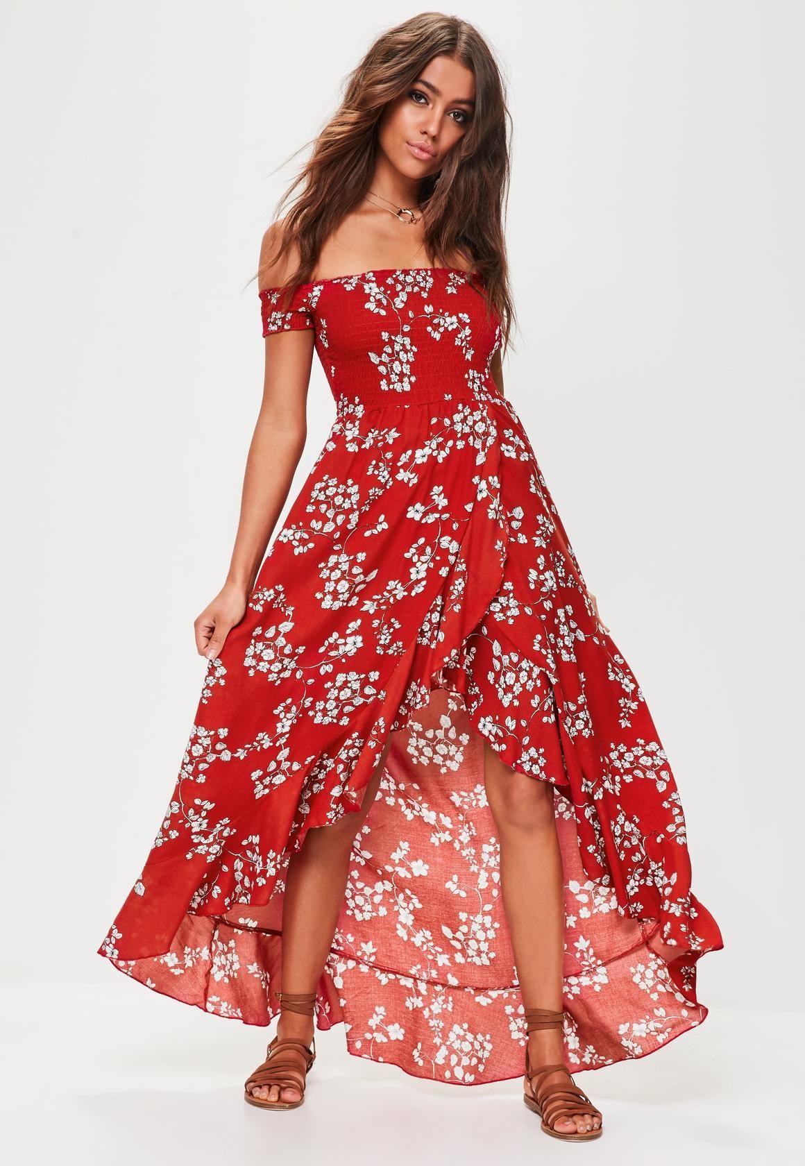 Robe Longue Vêtements Fleurie Rouge Les Blog Photo Sur Élégants – wwa8qrAdx