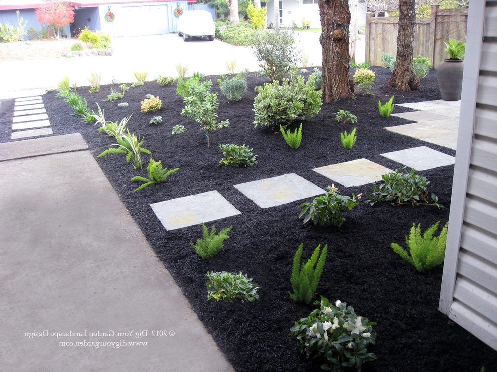 Seattle Black Pea Gravel Landscape Traditional With Ornamental