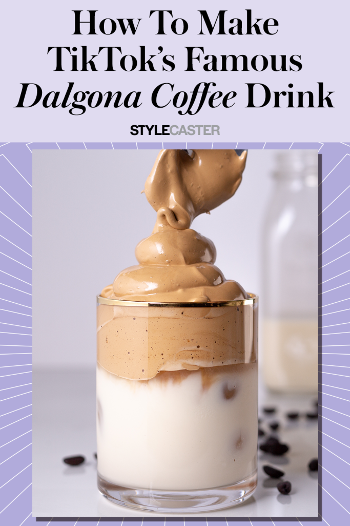 This Tiktok Famous Coffee Drink Is Actually Super Easy To Make At Home Coffee Recipes Coffee Drinks Yummy Drinks