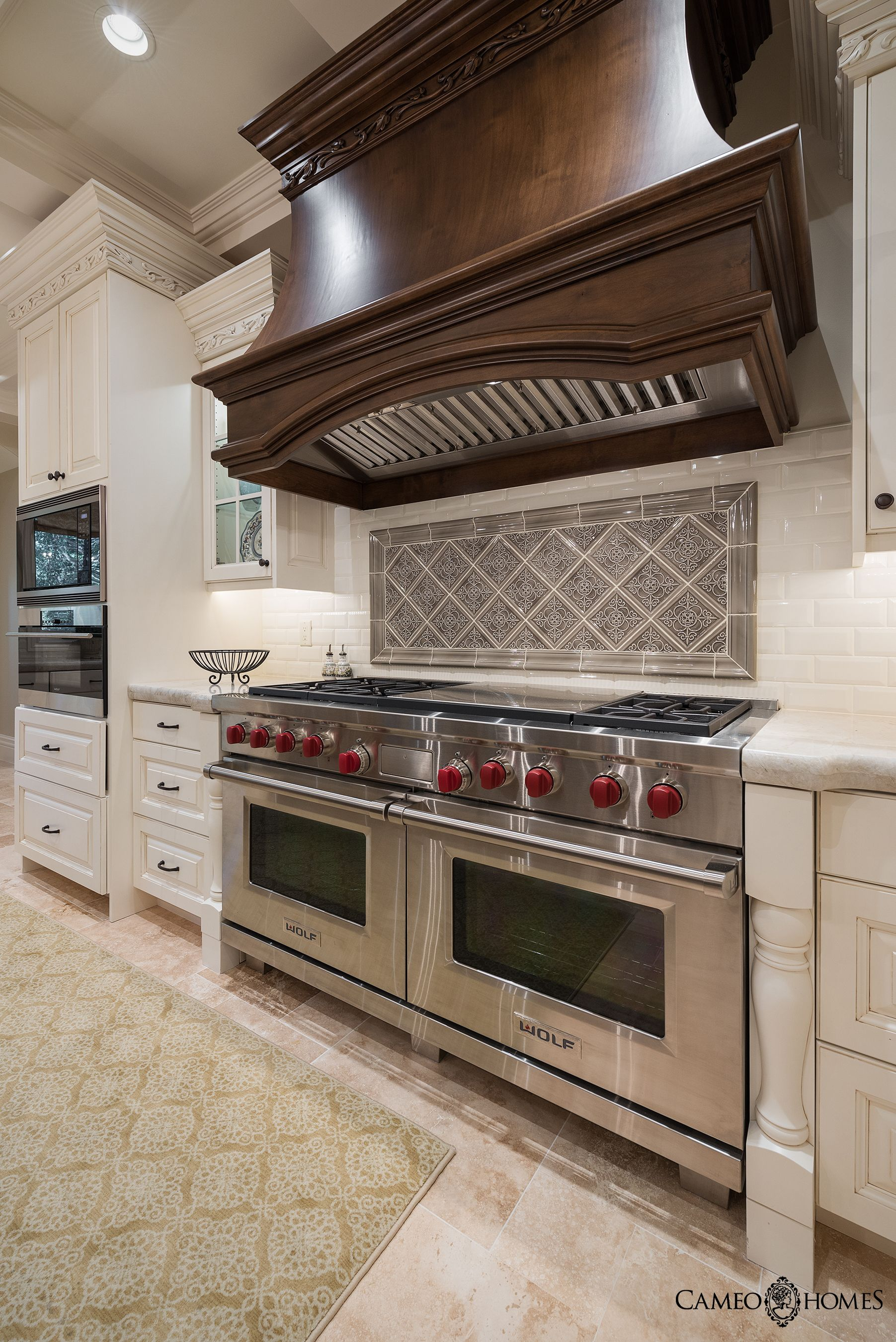 Luxurious kitchen in Utah. Wolf Appliances Cameo Homes Inc