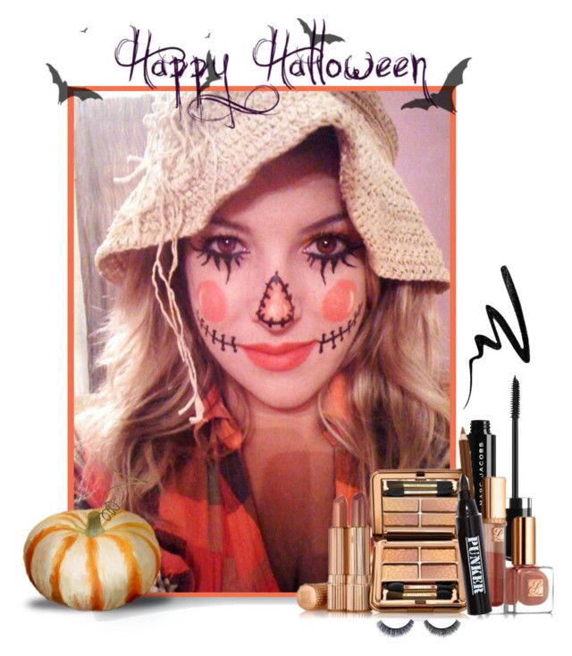 """""""Scarecrow Halloween Look"""" by divacrafts ❤ liked on Polyvore featuring beauty, Estée Lauder, Ardency Inn, Smashbox, ArtDeco and Original"""