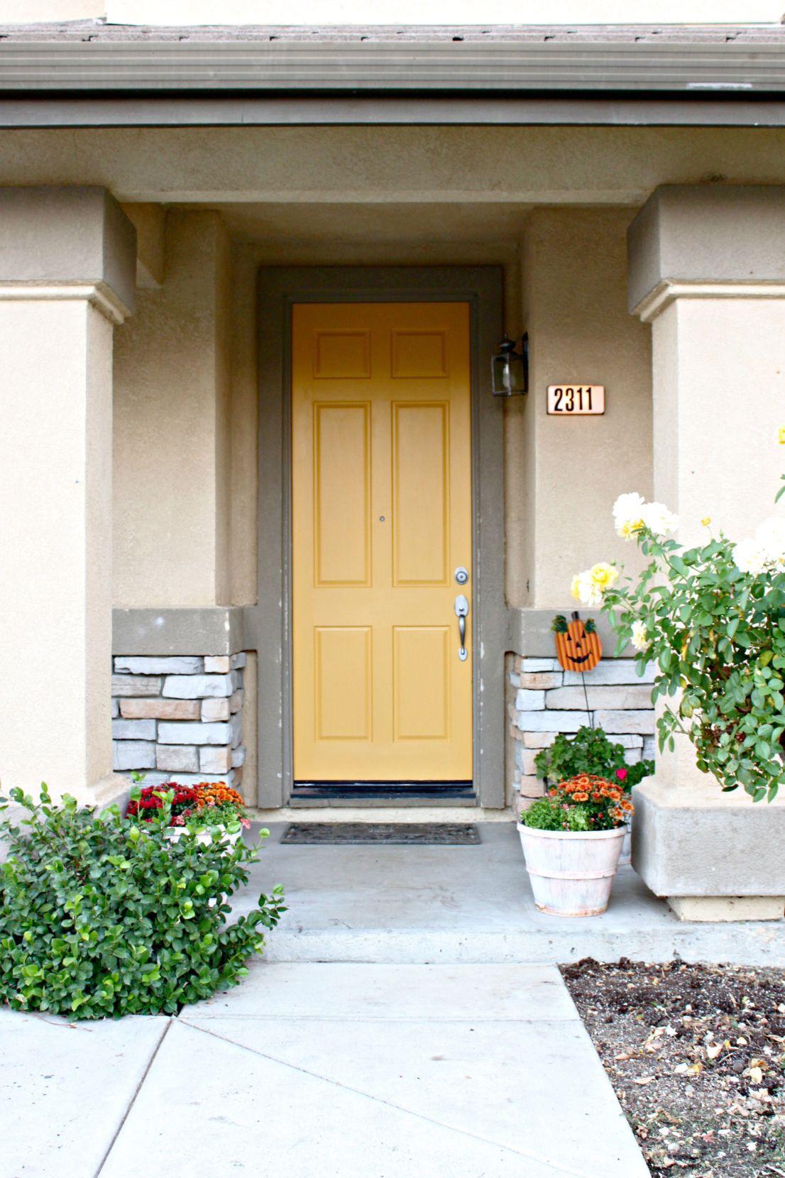 Painted Front Door in Modern Masters  Confident  Front Door Paint | Project by Karen Berg & Painted Front Door in Modern Masters