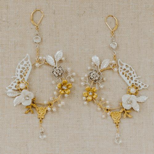 Trellis earring Rose gold metal, Earrings, Wire jewelry