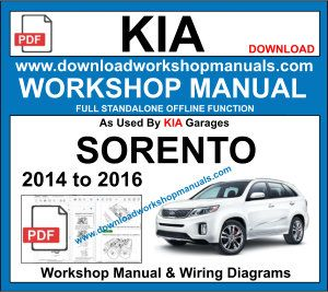 Kia Sorento 2014 To 2016 Workshop Repair Manual Kia Picanto Picanto Repair Manuals