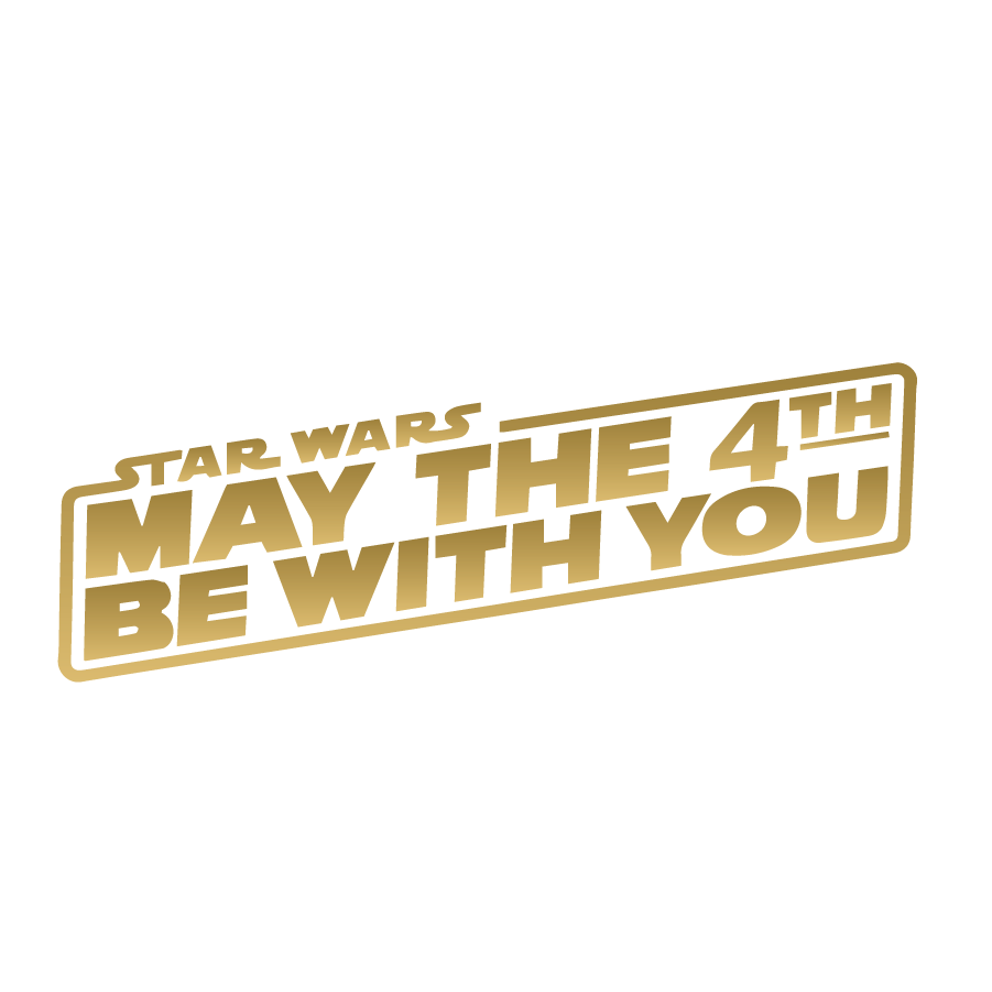 Star Wars May The 4th Be With You Gold May The 4th Be With You Star Wars May The 4th