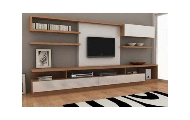 Modular moderno rack panel tv lcd living muebles luca for Racks y modulares para living