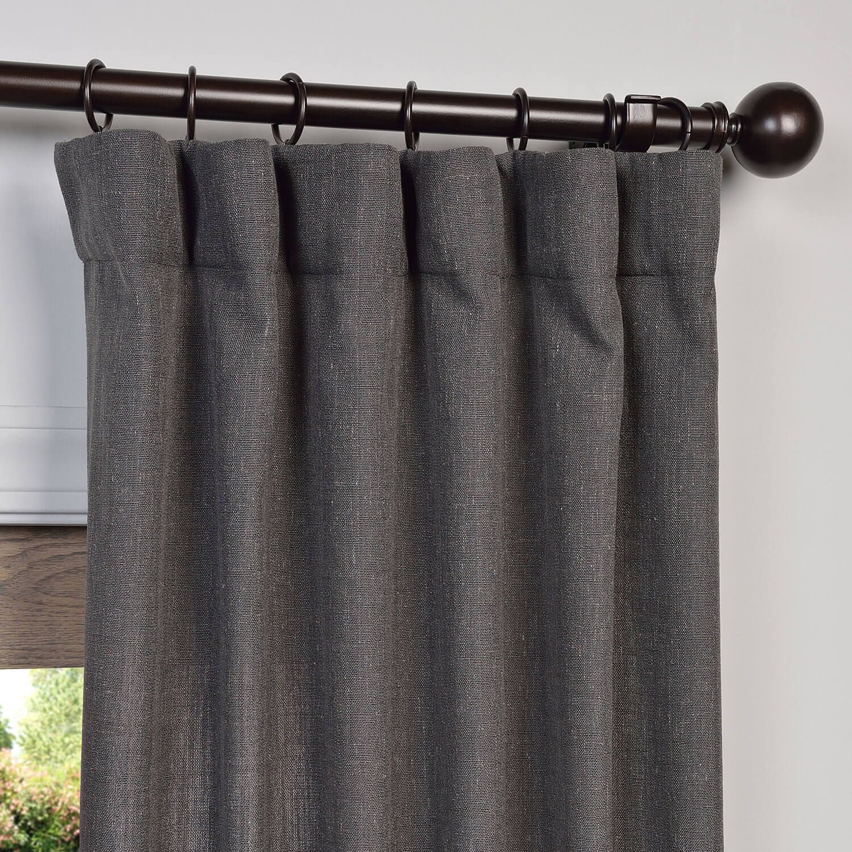 Buy Slate Grey Heavy Faux Linen Curtains Panel Linen Curtain Panels Panel Curtains Curtains