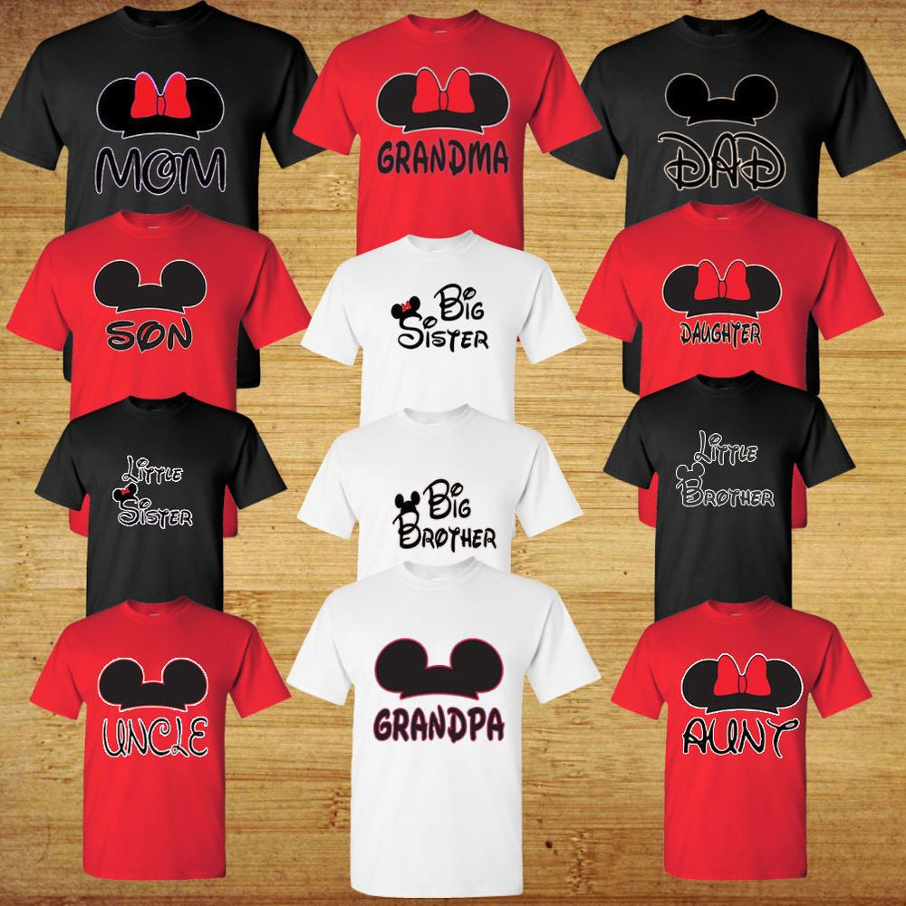 0c48d533 Mom And Dad And Family Mickey Head Disney funny cute Grandma Grandpa T-Shirt  #Gildan #GraphicTee #disney #family #shirt #familytrip #matching