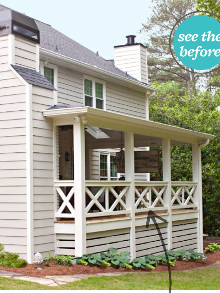 Deck rail idea bhg april  skirting ideas also most stunning to try at home rh pinterest