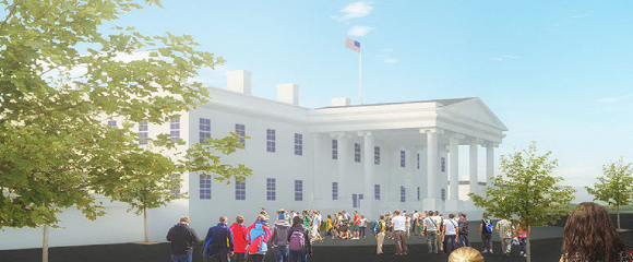 White House To Full Scale White house, America, Park