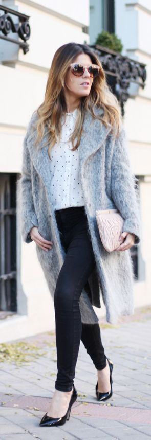 #Grey #Coat & #Pink #Accessories! by Mi Armario En Ruinas
