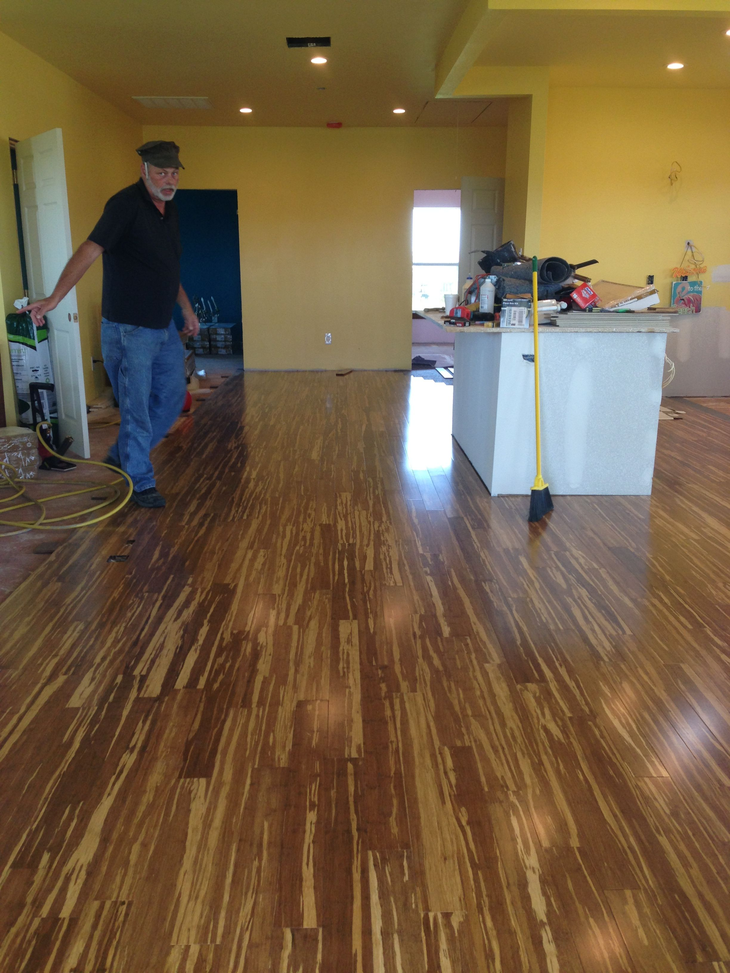 New bamboo flooring at the beach for the home pinterest
