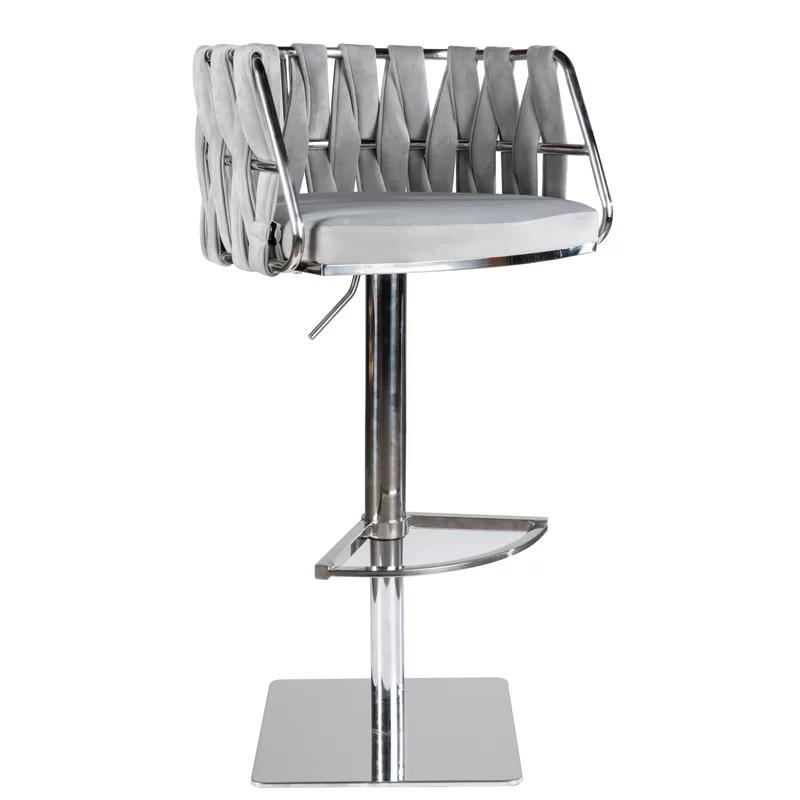 Cady Adjustable Height Swivel Bar Stool In 2020 Adjustable Chairs Swivel Bar Stools Bar Stools