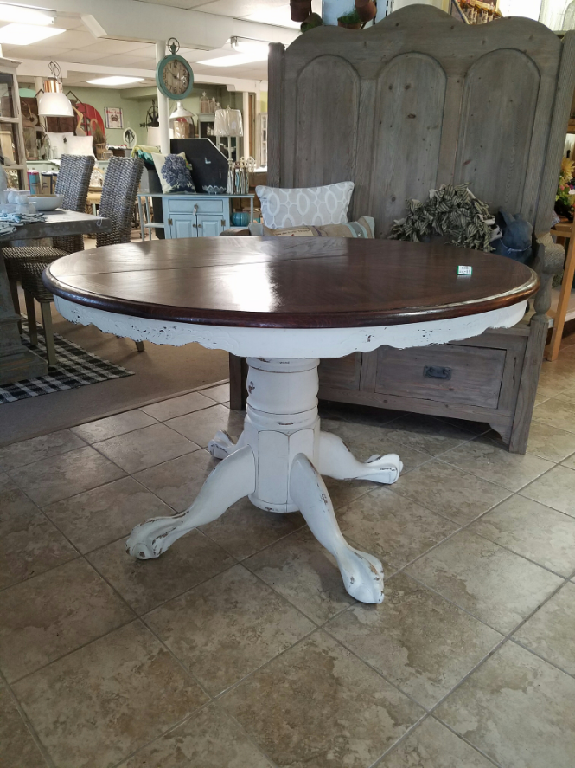 Round White Stain Top Pedestal Table With Leaf Kitchens - 48 round white pedestal table