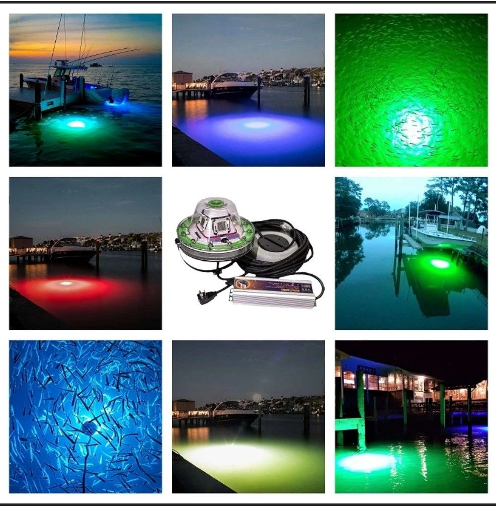 25000 Lumens Generates Up To 60ft Diameter Of Light No Installation Required Plug And Play System Guar In 2020 Underwater Lights Fishing Lights Dock Lighting