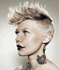 back sides long top  mohawk hairstyles for women punk