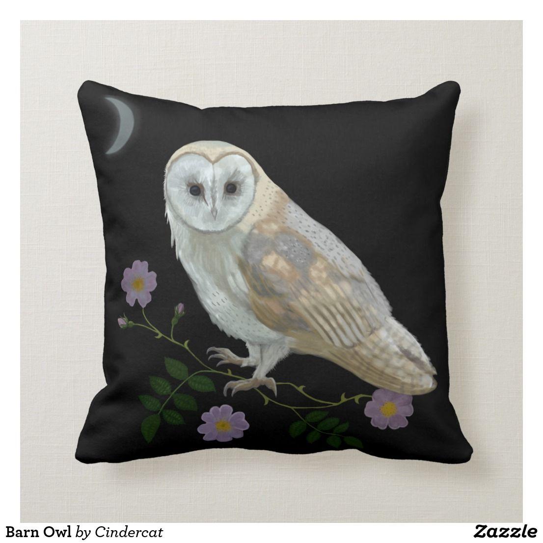 Barn Owl Throw Pillow Owl Throw Pillows Barn Owl Owl Bedrooms