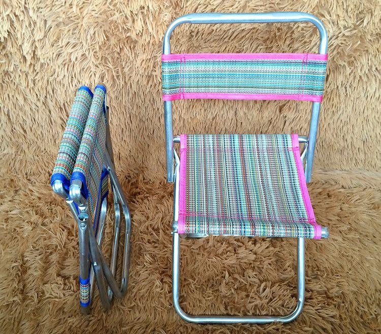 Outdoor Portable Folding Fishing Chair Foldable Stool Fishing Beach Chair Camping Hiking Picnic Gardening BBQ Stool