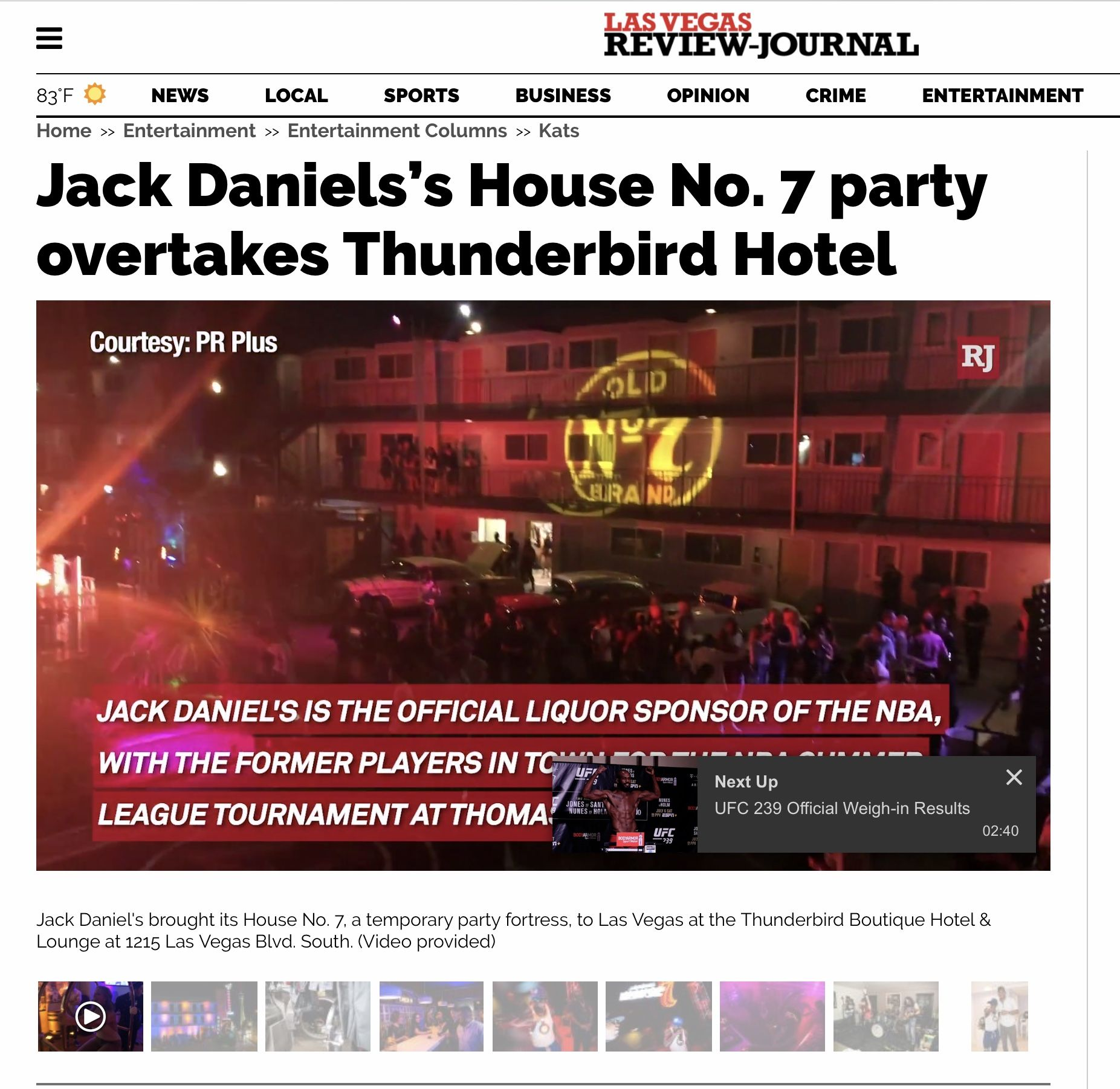 Jack Daniels S House No 7 Party Overtakes Thunderbird Hotel Thunderbird Hotel Jack Daniels Las Vegas Business